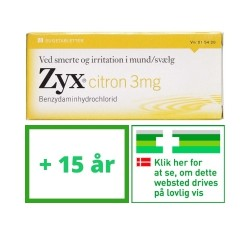 Zyx Sugetablet med Citron